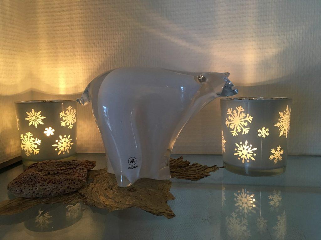 Der Polarbär im warmen Stimmungslicht (Foto: Britta Sopp).