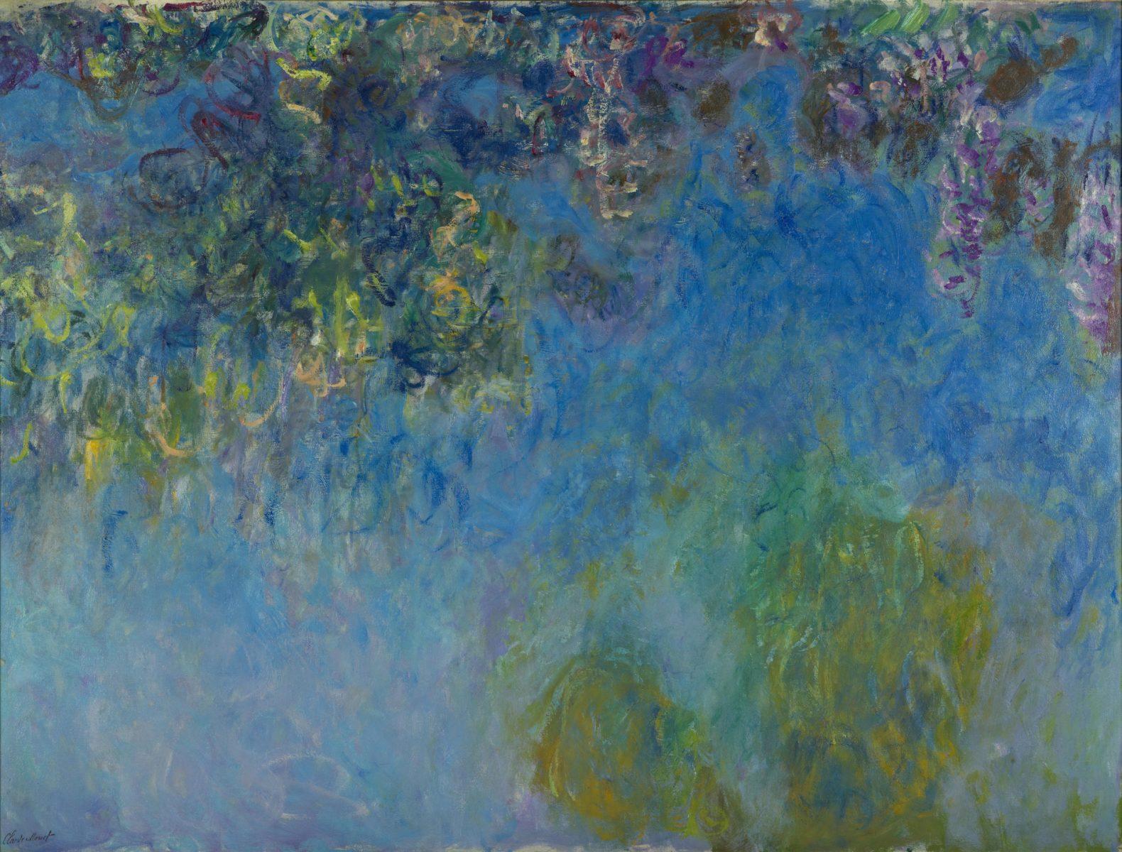 Claude Monet (1840-1926), Wisteria, 1917 -1920. Gemeentemuseum Den Haag.