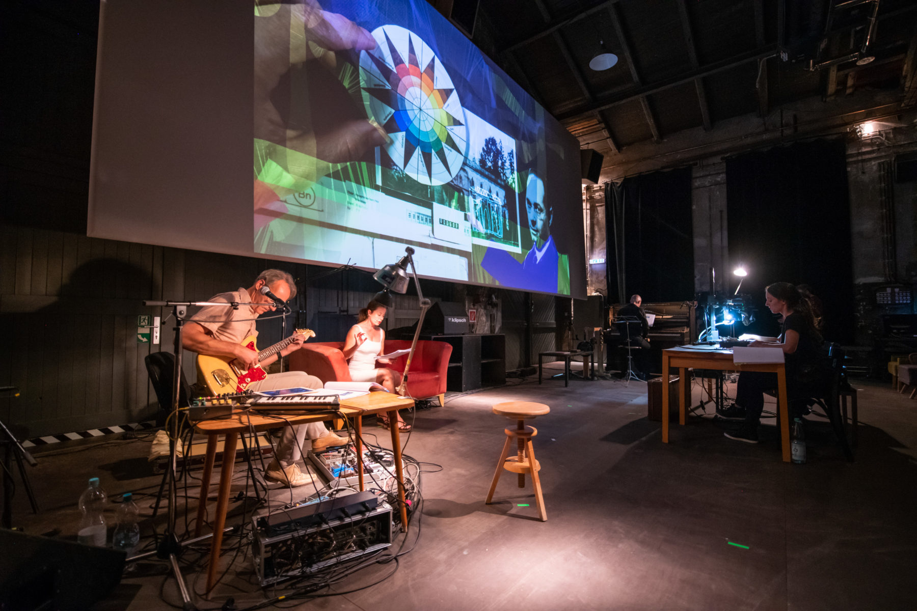 """21.08.2018 Weimar: GP des Livefilms """"Ohne Farbe geht nichts!"""" im Lichthaus Kino im Rahmen des Kunstfest Weimar. Foto: Thomas Müller"""