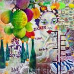 Mädchenporträt Acrylfarben Trauben