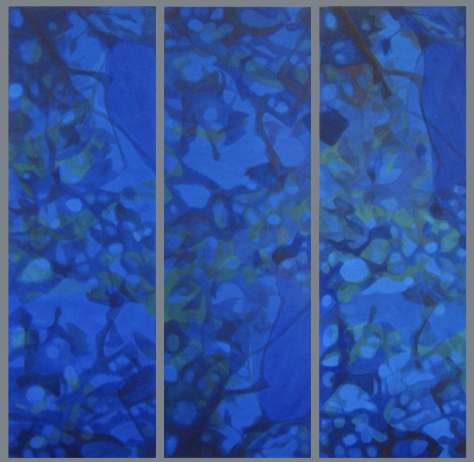 """Das Triptychon """"Ciel J'en rêve"""" aus der Serie Shadows (Foto: Ursula Heermann-Jensen)"""
