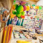 Acrylbilder Material Atelier Birgit Lorenz