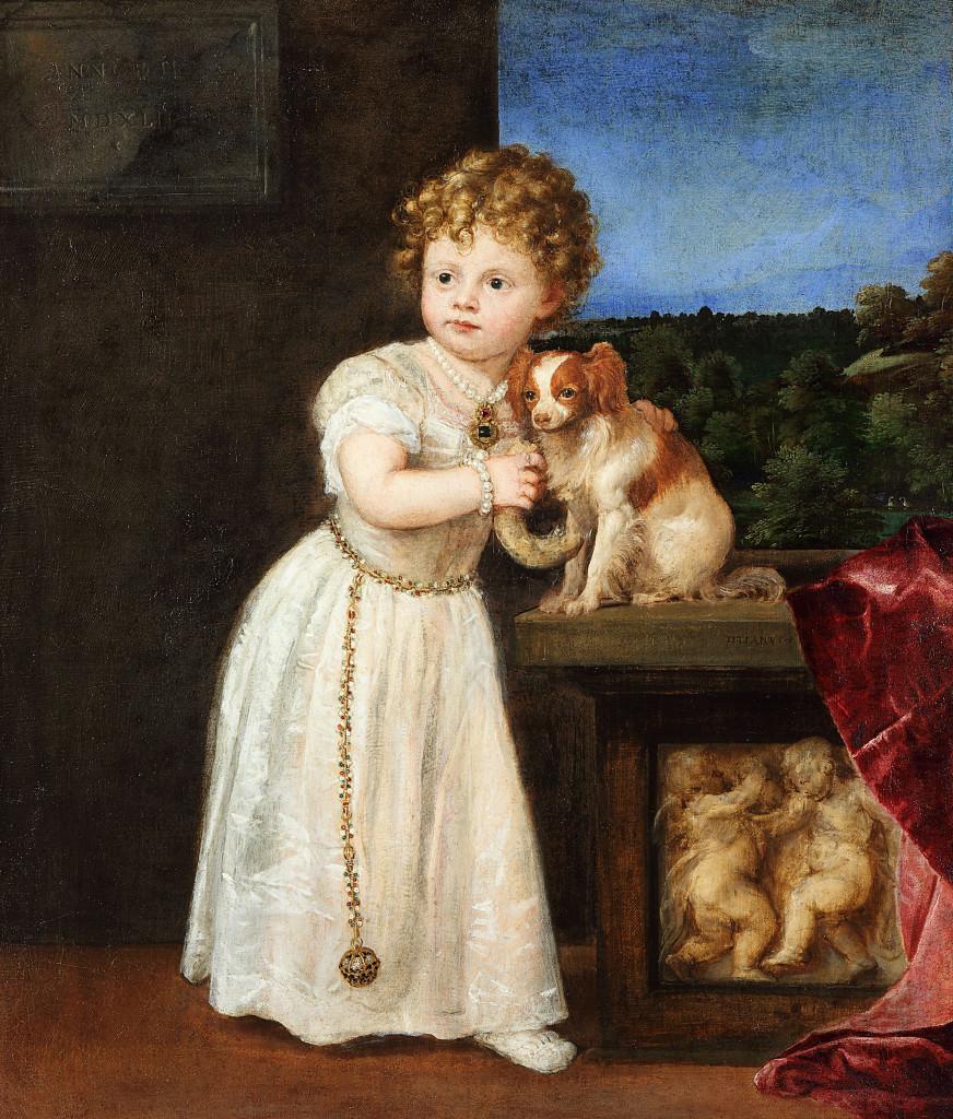 Tizian, Bildnis der Clarice Strozzi als Kind, 1542. Öl auf Leinwand. Berlin, Staatliche Museen, Gemäldegalerie. © bpk / Gemäldegalerie, SMB / Christoph Schmidt