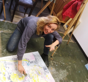 Anke Gruss im Atelier