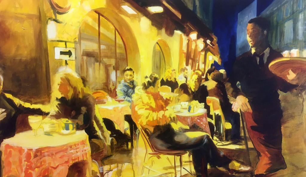 Anke Gruss Cafe Abend Lichtstimmung