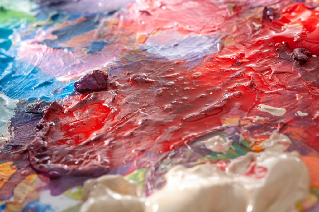 pastose Acrylfarben Palette
