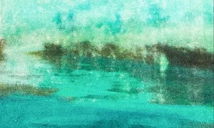 "Heidi Bastian, ""o. T."", Ölfarben auf Leinwand. Ausschnitt"