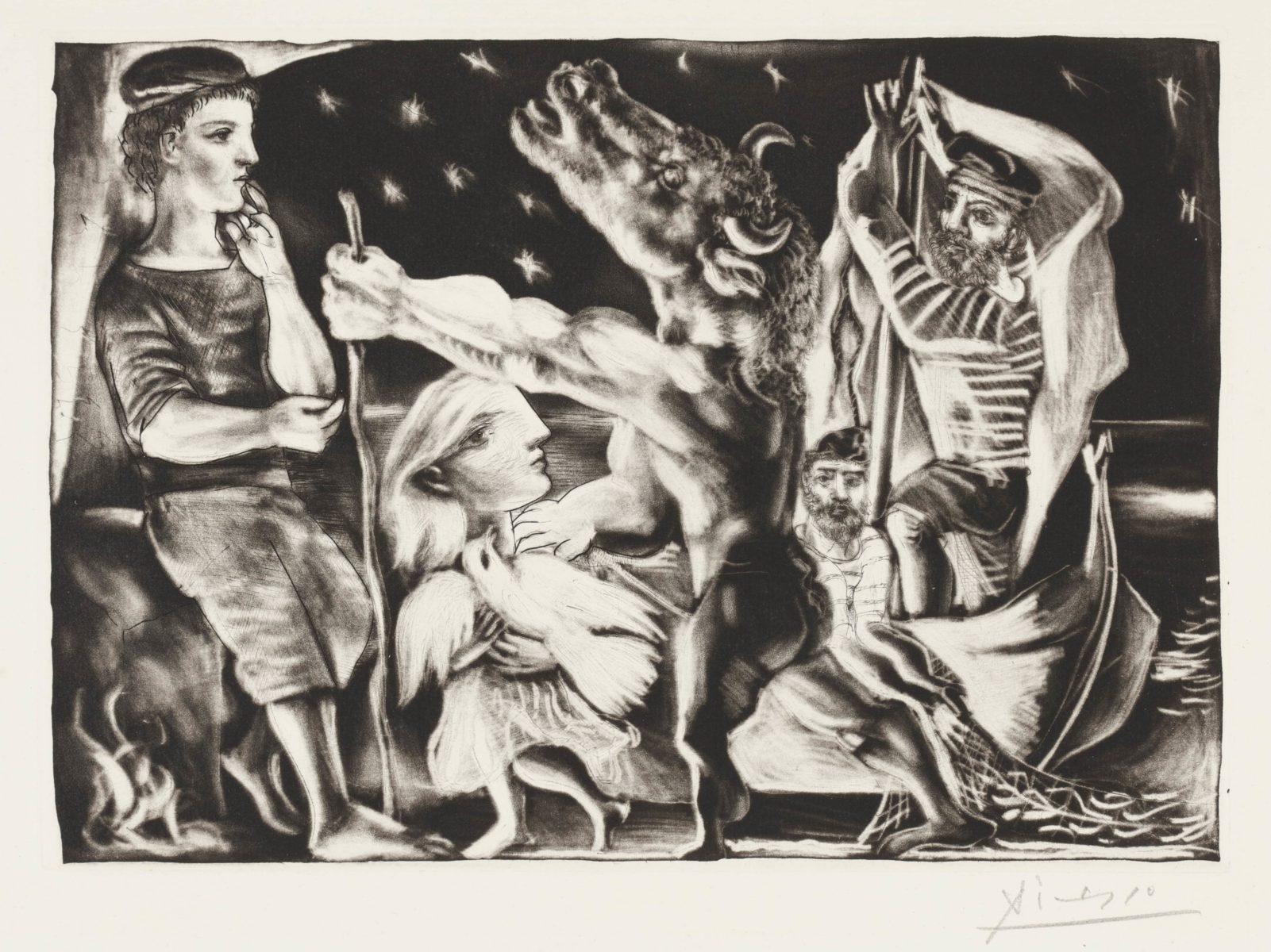 Picasso Minotaurus Radierung