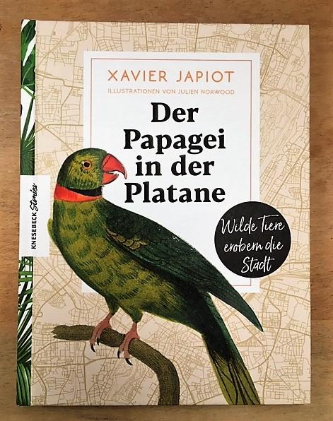 Knesebeck, Buchseite Der Papagei in der Platane, Cover