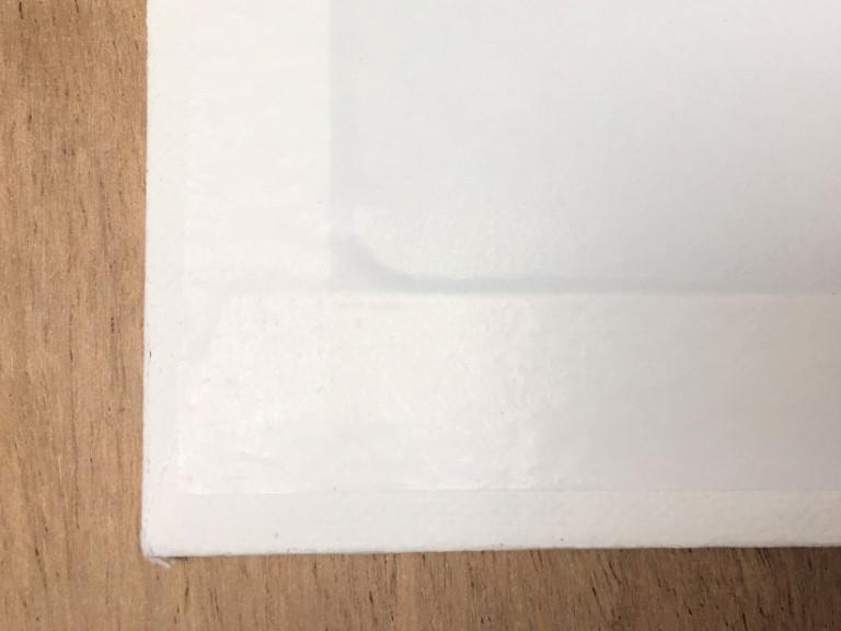 Acrylfarben 3: Malgründe, Malplatte von hinten