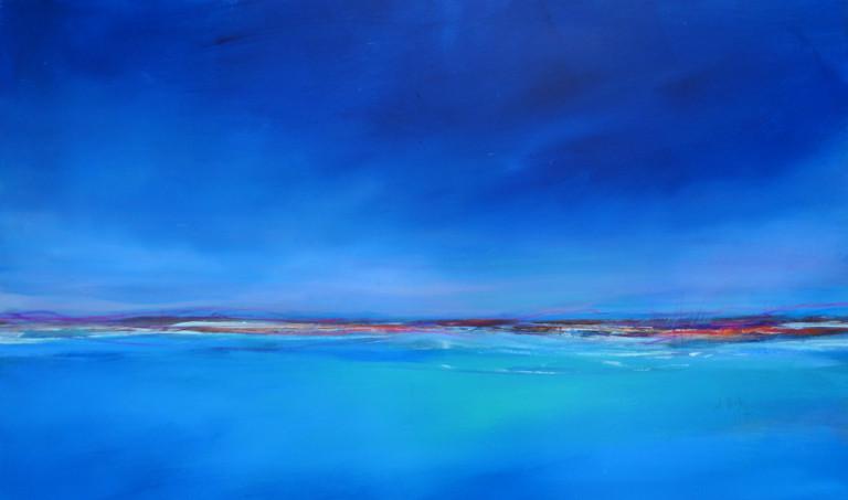 Acrylbild Blauer Horizont