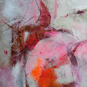 Angelika Biber, Collage mit Rost und Wachs 2
