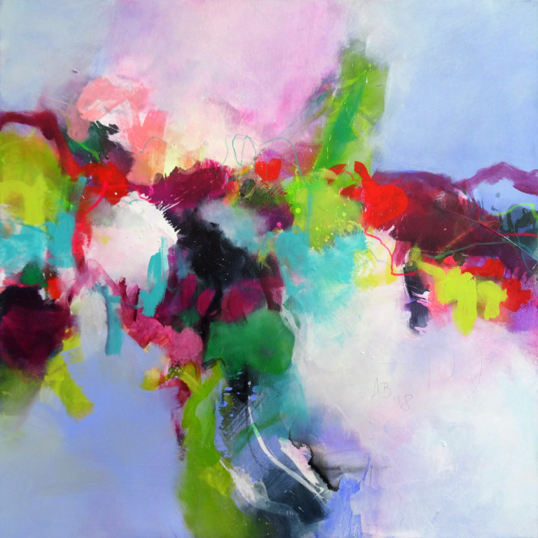 Angelika Biber, freie Formen Acrylfarbe