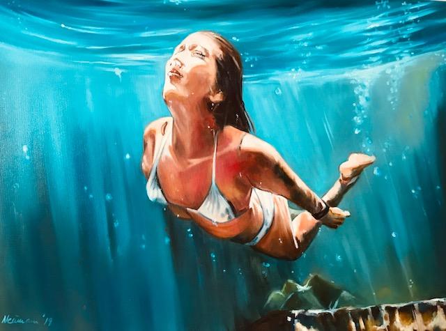 Sonja Neumann, Daily Painting, Wasser malen 2