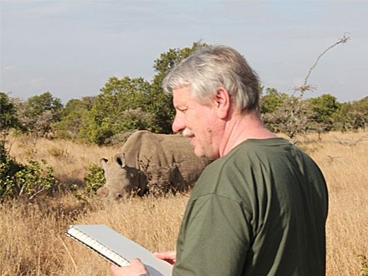 Bodo Meier in der Serengeti