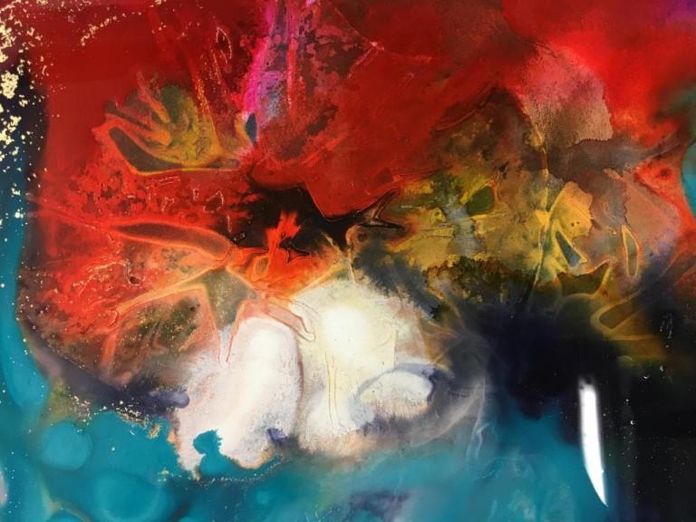 """Brigitte Waldschmidt, """"Herbst 2"""", Acryl auf Leinwand (Foto: © Brigitte Waldschmidt)"""