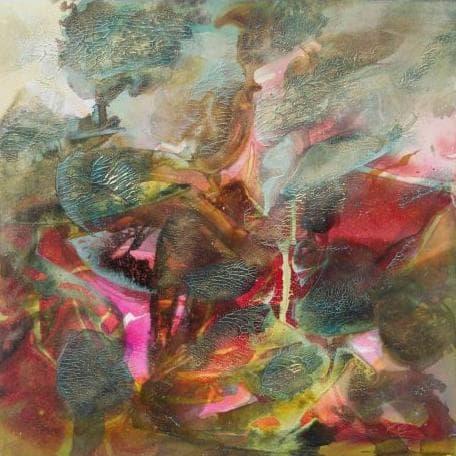"""Brigitte Waldschmidt, """"Herbst 3"""", Acryl auf Leinwand (Foto: © Brigitte Waldschmidt)"""