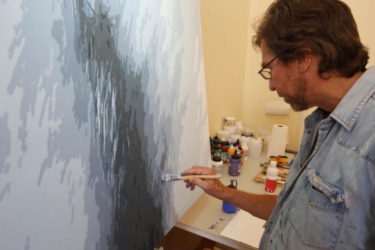 Bernhard Förth im Atelier
