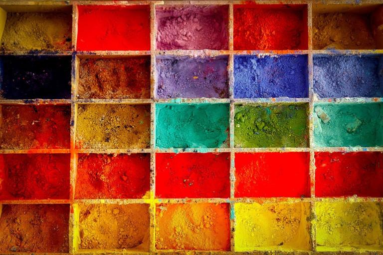 Pigmente, aus dem Atelier von Gerhard Fietz, Künstlergruppe ZEN49,