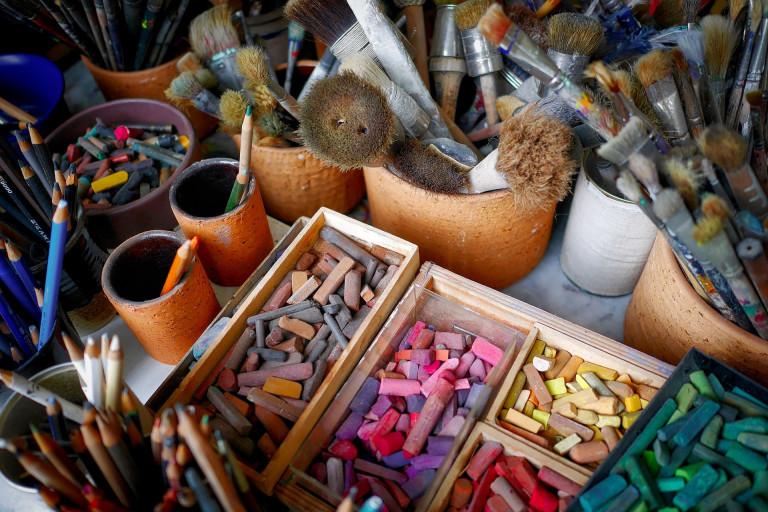 Pastelle, aus dem Atelier von Gerhard Fietz, Künstlergruppe ZEN49
