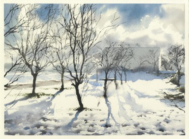 Werner Maier, Bäume im Winter