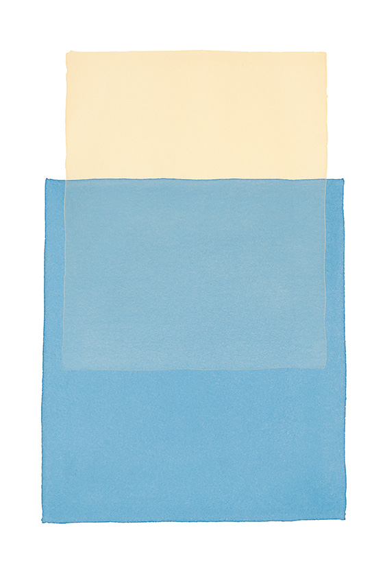 Werner Maier Farbflächen Beige Blau