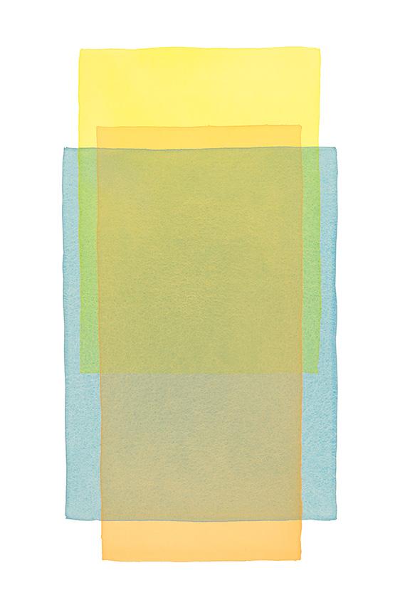 Werner Maier Farbflächen Gelb Blau Orange