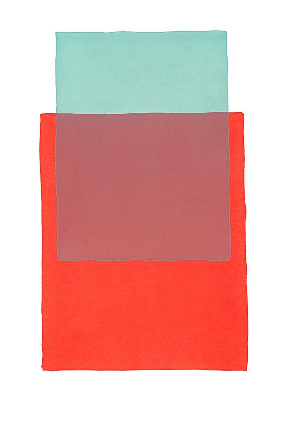 Werner Maier Farbflächen Blau Rot
