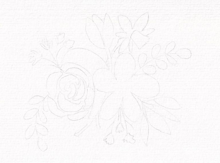 Nina Rötters Watercolor Frühlingsblumen1