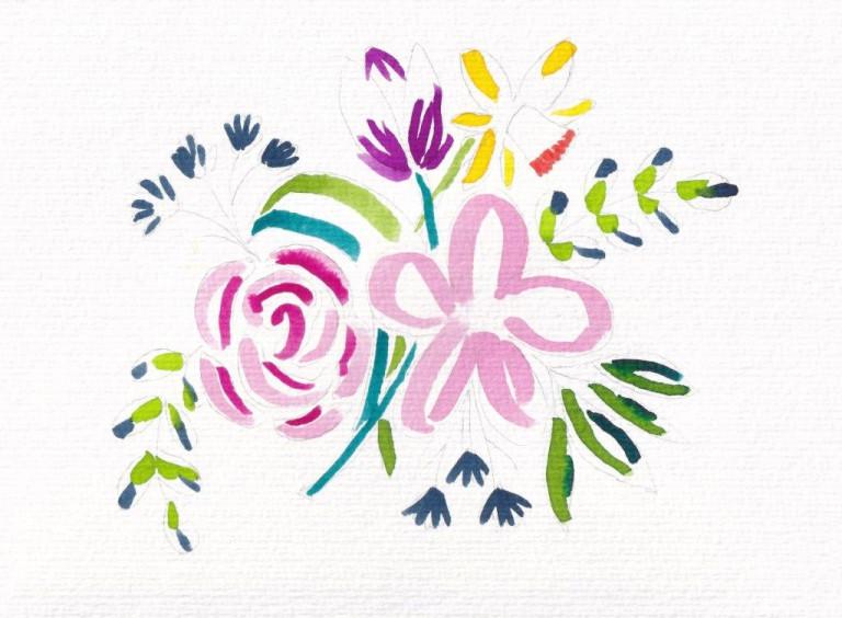 Nina Rötters Watercolor Frühlingsblumen2