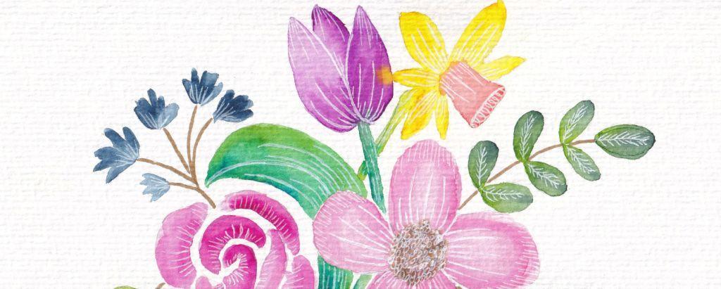 Nina Rötters Watercolor Frühlingsblumen