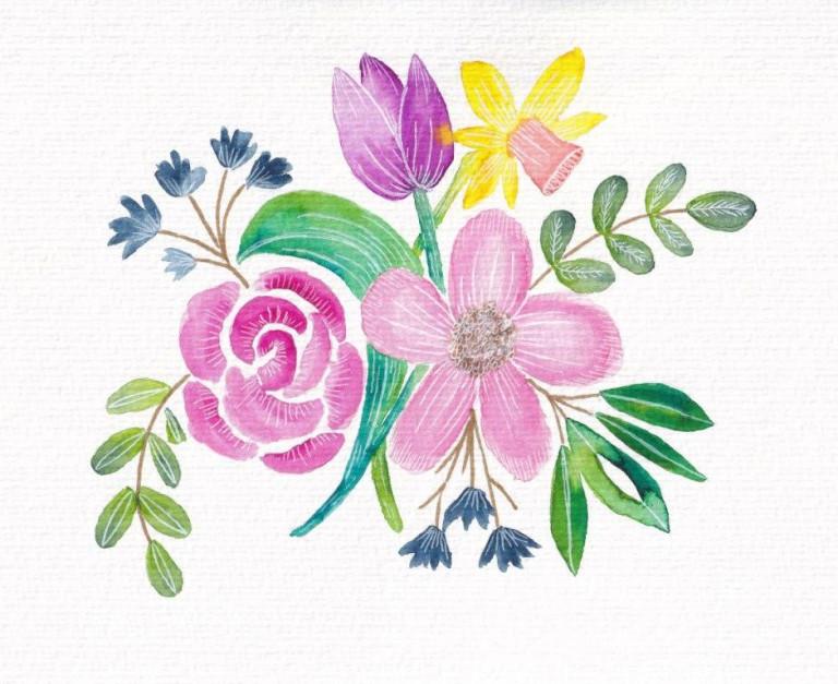 Nina Rötters Watercolor Frühlingsblumen4