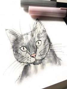 Rötters Lettering Katze