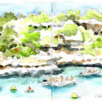 Cala-sa-Nau-skizze-Mallorca-chrisa-hans-christian-sanladerer