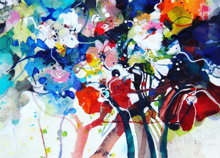 Fikisz, Aquarell, Blumen