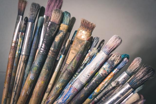 Nachhaltig malen, Pinsel reinigen