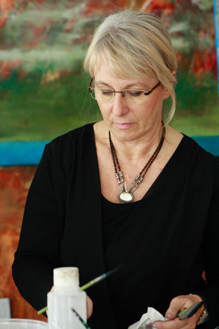 Anita Hoerskens im Atelier 1
