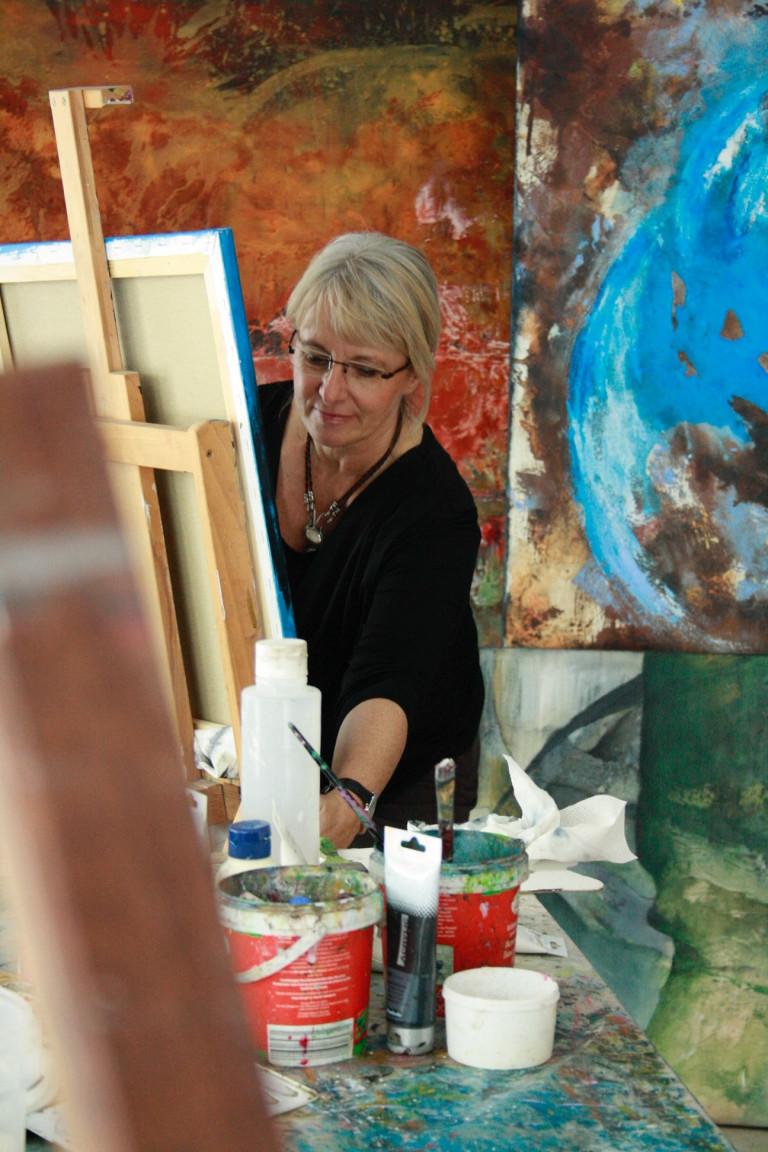 Anita Hoerskens im Atelier 4 c Anita Hoerskens