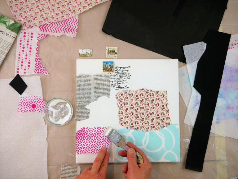 Kosnick_Warten_Collage Papier und Draht Schritt3-min