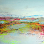 Angelika Biber, Acryl Weite abstrakte Landschaft