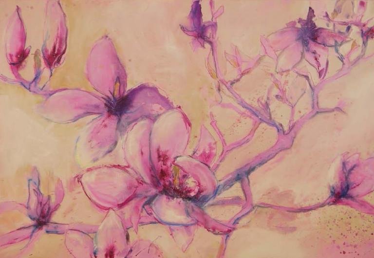 Ruth Alice Kosnick, Buch Flower Power in Acryl Magnolie S. 35