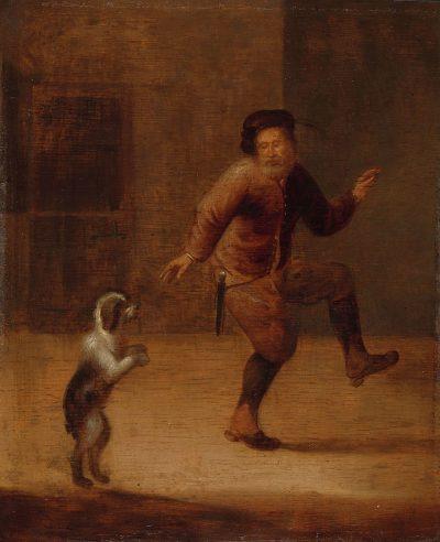Verwilt, Mann mit Hund