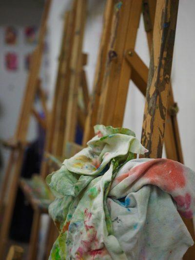 Nachhaltig malen: Mallappen statt Küchenpapier