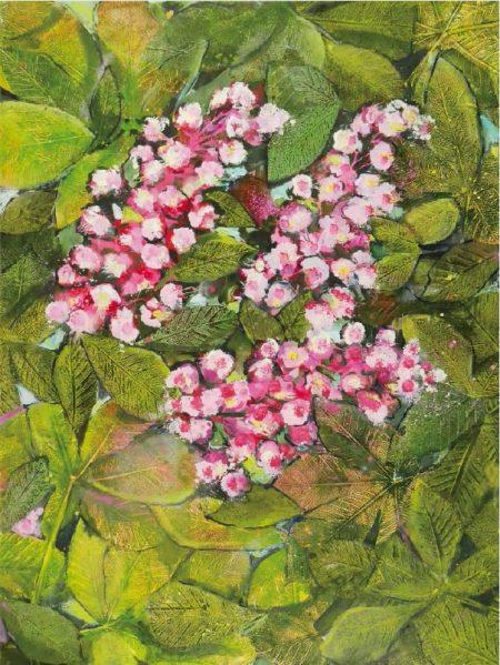 Ruth Alice Kosnick, Buch Flower Power in Acryl Kastanienblüte S. 51
