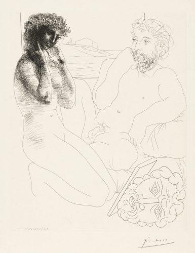 Picasso Radierung Bildhauer und Modell