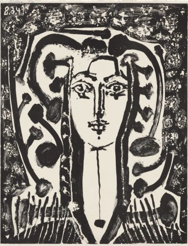 Picasso Lithografie Jugendstil Büste