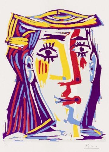 Picasso Linolschnitt Porträt Jacqueline